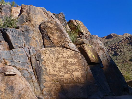 Petroglyphs on the Hieroglyphics Trail