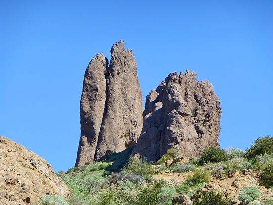 The Praying Hands rock formation along the Treasure Loop Trail